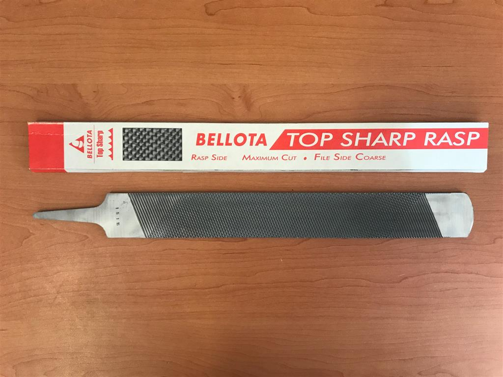 """Bellota Top Sharp 14/"""" Long Horse Rasp File with Handle Used"""